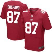 Men's Nike New York Giants #87 Sterling Shepard Elite Red Alternate NFL Jersey