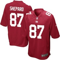Men's Nike New York Giants #87 Sterling Shepard Game Red Alternate NFL Jersey