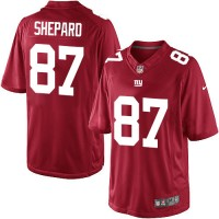 Men's Nike New York Giants #87 Sterling Shepard Limited Red Alternate NFL Jersey