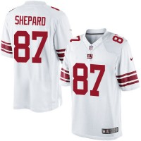 Men's Nike New York Giants #87 Sterling Shepard Limited White NFL Jersey