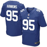 Men's Nike New York Giants #95 Johnathan Hankins Elite Royal Blue Jersey