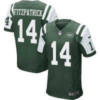 Men's Nike New York Jets #14 Ryan Fitzpatrick Elite Green Team Color NFL Jersey
