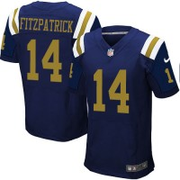 Men's Nike New York Jets #14 Ryan Fitzpatrick Elite Navy Blue Alternate NFL Jersey