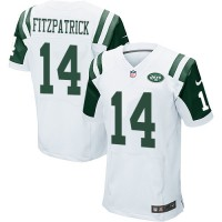 Men's Nike New York Jets #14 Ryan Fitzpatrick Elite White NFL Jersey