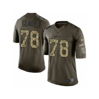 Men's Nike New York Jets #78 Ryan Clady Limited Green Salute to Service NFL Jersey
