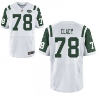 Men's Nike New York Jets #78 Ryan Clady White Stitched NFL Elite Jersey
