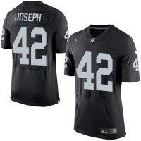 Men's Nike Oakland Raiders #42 Karl Joseph Elite Black Team Color NFL Jersey