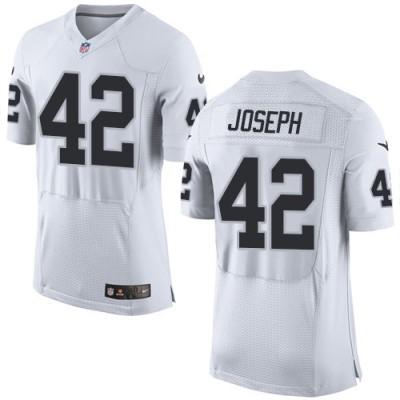 Men's Nike Oakland Raiders #42 Karl Joseph Elite White NFL Jersey