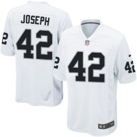 Men's Nike Oakland Raiders #42 Karl Joseph Game White NFL Jersey
