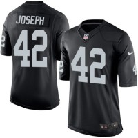 Men's Nike Oakland Raiders #42 Karl Joseph Limited Black Team Color NFL Jersey