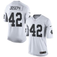 Men's Nike Oakland Raiders #42 Karl Joseph Limited White NFL Jersey