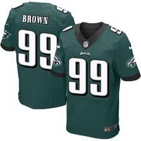 Men's Nike Philadelphia Eagles #99 Jerome Brown Elite Midnight Green Team Color NFL Jersey