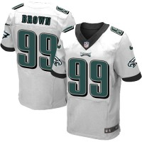 Men's Nike Philadelphia Eagles #99 Jerome Brown Elite White NFL Jersey