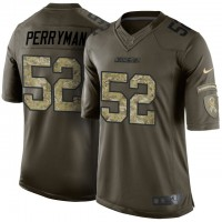 Men's Nike San Diego Chargers #52 Denzel Perryman Green Camo Limited Salute to Service Jersey