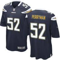 Men's Nike San Diego Chargers #52 Denzel Perryman Navy Game Jersey