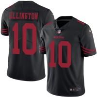 Men's Nike San Francisco 49ers #10 Bruce Ellington Elite Black Rush NFL Jersey