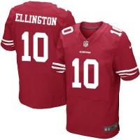 Men's Nike San Francisco 49ers #10 Bruce Ellington Elite Red Team Color NFL Jersey