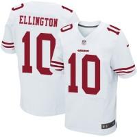 Men's Nike San Francisco 49ers #10 Bruce Ellington Elite White NFL Jersey