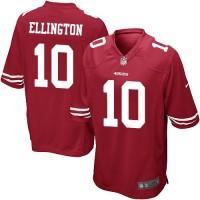 Men's Nike San Francisco 49ers #10 Bruce Ellington Game Red Team Color NFL Jersey