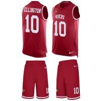 Men's Nike San Francisco 49ers #10 Bruce Ellington Limited Red Tank Top Suit NFL Jersey