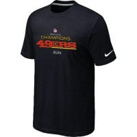 Men's Nike San Francisco 49ers 2012 NFC Conference Champions Trophy Collection Long T-Shirt Black