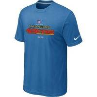 Men's Nike San Francisco 49ers 2012 NFC Conference Champions Trophy Collection Long T-Shirt Light Blue