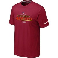 Men's Nike San Francisco 49ers 2012 NFC Conference Champions Trophy Collection Long T-Shirt Red