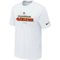 Men's Nike San Francisco 49ers 2012 NFC Conference Champions Trophy Collection Long T-Shirt White