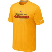 Men's Nike San Francisco 49ers 2012 NFC Conference Champions Trophy Collection Long T-Shirt Yellow