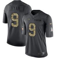 Men's Nike Seattle Seahawks #9 Jon Ryan Limited 2016 Salute to Service Jersey