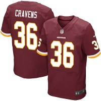 Men's Nike Washington Redskins #36 Su'a Cravens Elite Burgundy Red Team Color NFL Jersey