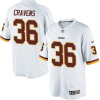 Men's Nike Washington Redskins #36 Su'a Cravens Limited White NFL Jersey
