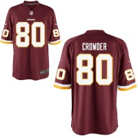 Men's Nike Washington Redskins #80 Jamison Crowder Game Burgundy Red Team Color NFL Jersey