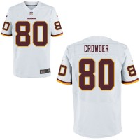 Men's Nike Washington Redskins #80 Jamison Crowder White NFL Elite Jersey