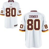 Men's Nike Washington Redskins #80 Jamison Crowder White NFL Game Jersey