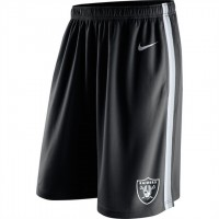 Men's Oakland Raiders Black Epic Team Logo Shorts