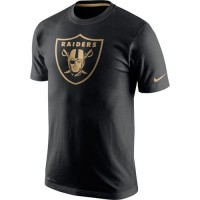 Men's Oakland Raiders Nike Black Championship Drive Gold Collection Performance T-Shirt