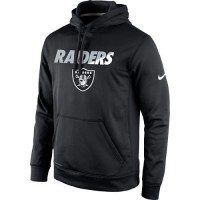 Men's Oakland Raiders Nike Black Kick Off Staff Performance Pullover Hoodie