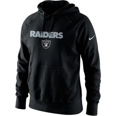 Men's Oakland Raiders Nike Black Lockup Pullover Hoodie