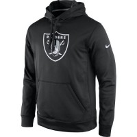 Men's Oakland Raiders Nike Black Practice Performance Pullover Hoodie