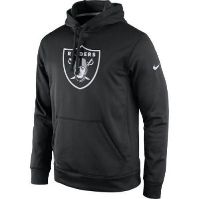 Men's Oakland Raiders Nike Black Practice Performance Pullover Hoodie