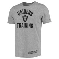 Men's Oakland Raiders Nike Heathered Gray Training Performance T-Shirt