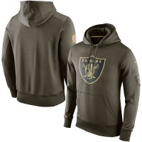 Men's Oakland Raiders Nike Olive Salute To Service KO Performance Hoodie