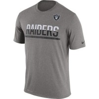 Men's Oakland Raiders Nike Practice Legend Performance T-Shirt Grey