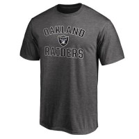 Men's Oakland Raiders Pro Line Gray Victory Arch T-Shirt
