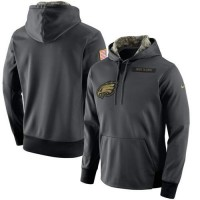 Men's Philadelphia Eagles Nike Anthracite Salute to Service Player Performance Hoodie