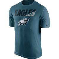 Men's Philadelphia Eagles Nike Midnight Green Legend Staff Practice Performance T-Shirt