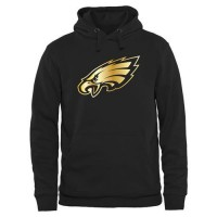 Men's Philadelphia Eagles Pro Line Black Gold Collection Pullover Hoodie