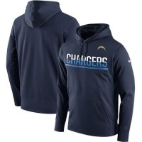 Men's San Diego Chargers Nike Navy Sideline Circuit Pullover Performance Hoodie