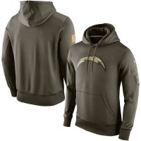 Men's San Diego Chargers Nike Olive Salute To Service KO Performance Hoodie